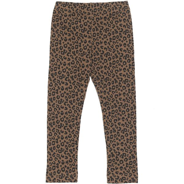 Brown Leopard Legging