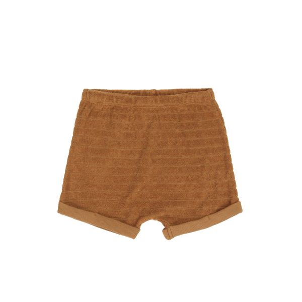 Striped Frotté Shorts / Antique Brass