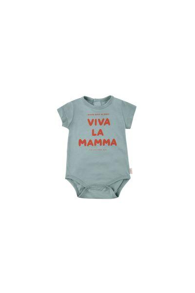 Viva La Mamma Body / Sea Green - Red