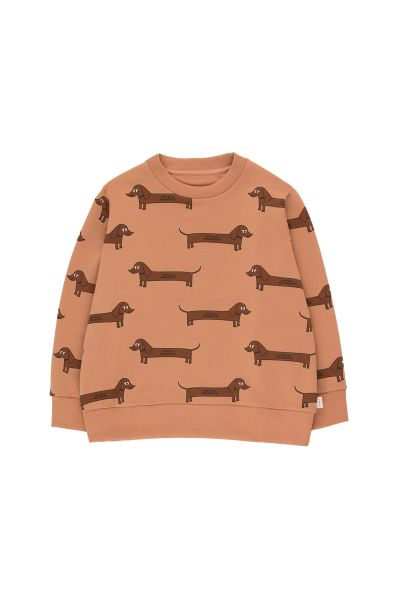 Il Bassotto Sweatshirt / Tan - Dark Brown