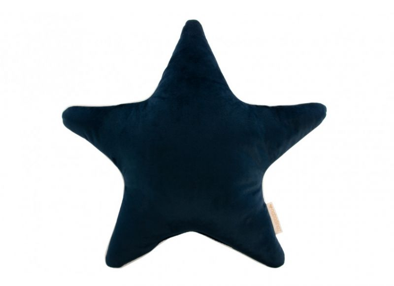 Aristote Star Cushion Velvet / Night Blue
