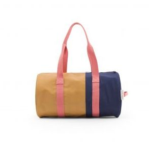 Duffle Vertical / Caramel - Dark Blue