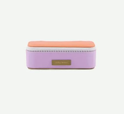 Pencil Case Deluxe / Lila - Orange - Olive