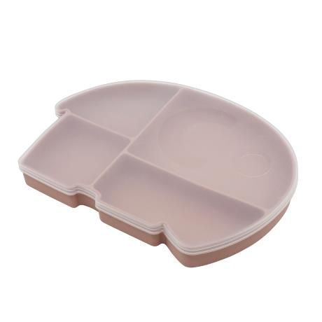 Silicone Plate With Lid / Fanto The Elephant / Blossom
