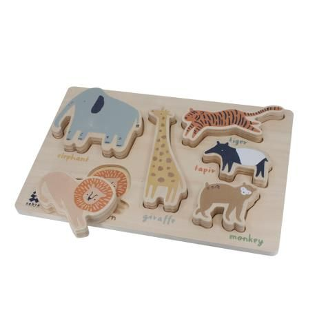 Wooden Chunky Puzzle / Wildlife