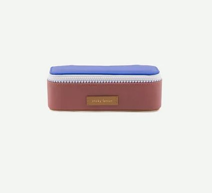 Pencil Case Deluxe / Brick - Blue - Brown