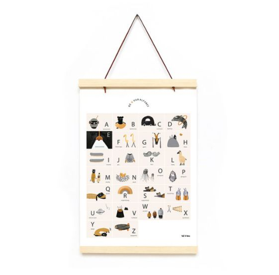 ABC Poster - Wooden Frame