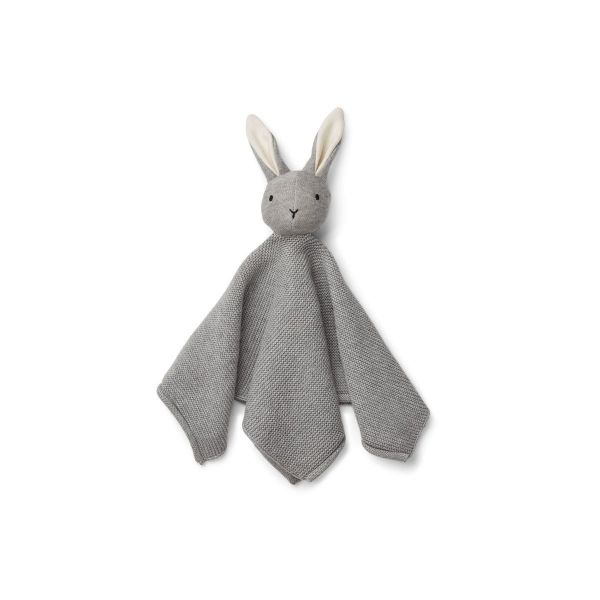 Milo knit cuddle cloth / Rabbit grey melange