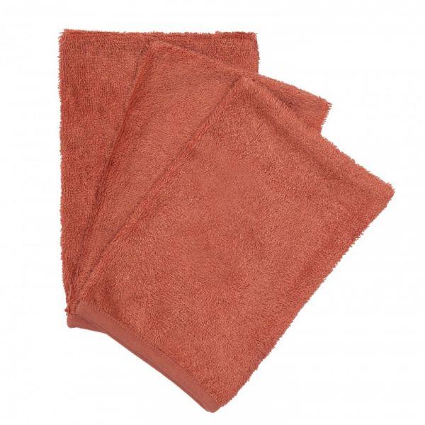 Set van 3 washandjes / Apricot Blush