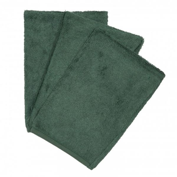 Set van 3 washandjes / Aspen Green