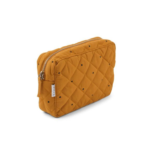 Claudia Toiletry Bag / Classic Dot Mustard