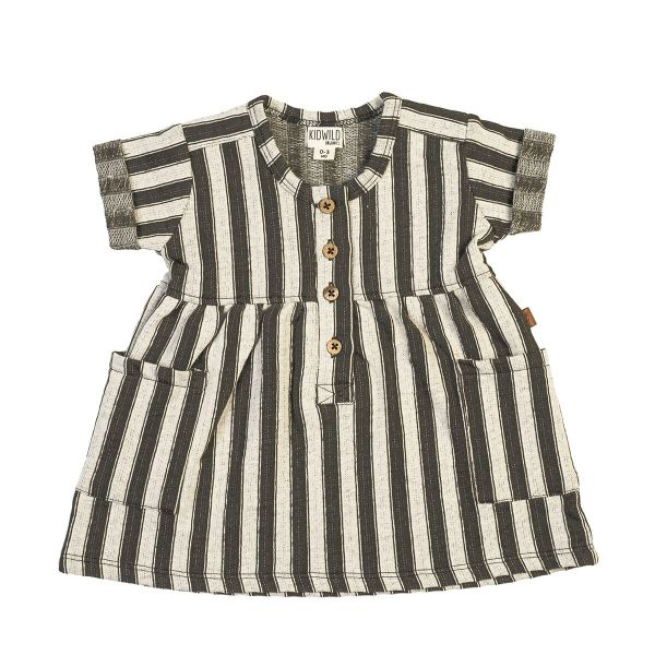 Pocket Dress / Slate Stripe
