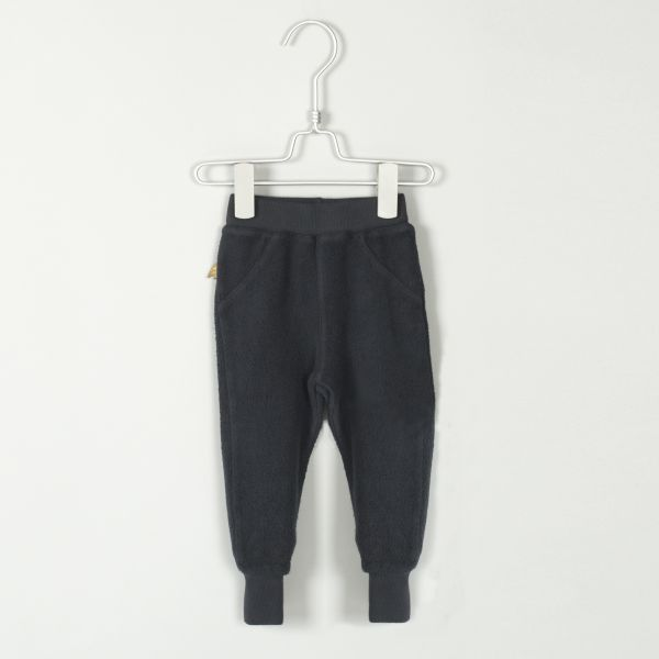 Semi Baggy Pants Solid Vintage black