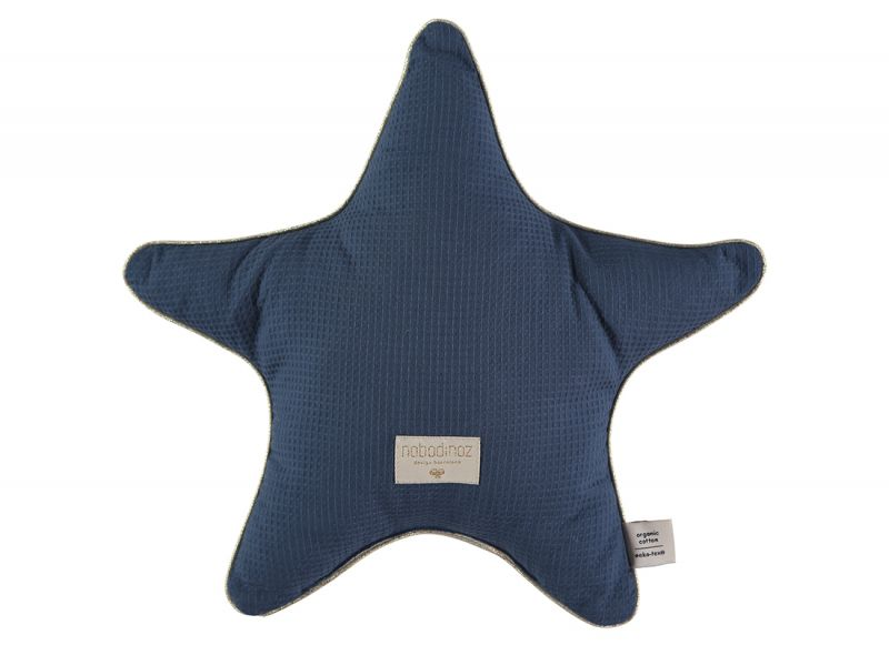 Aristote Star Cushion / Night Blue