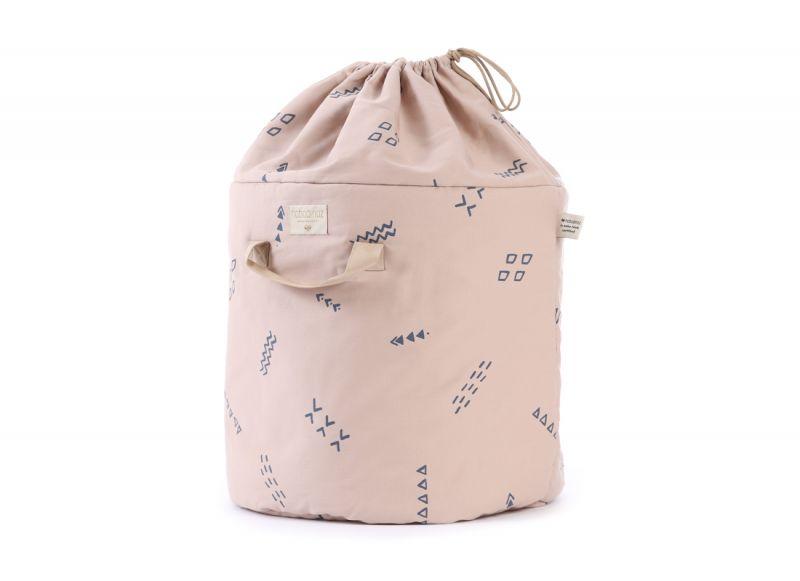 Bamboo Toy Bag Large / Blue Secrets - Misty Pink