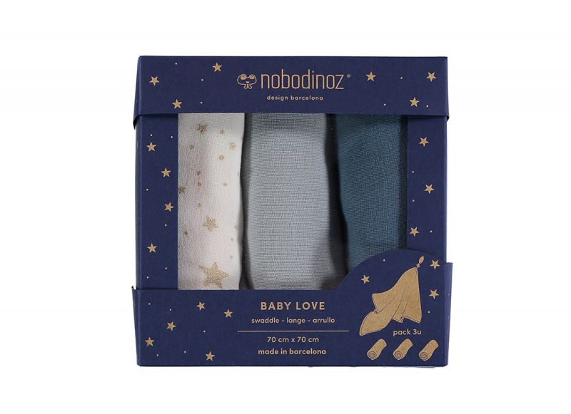 Baby Love Swaddle Box / Night Blue