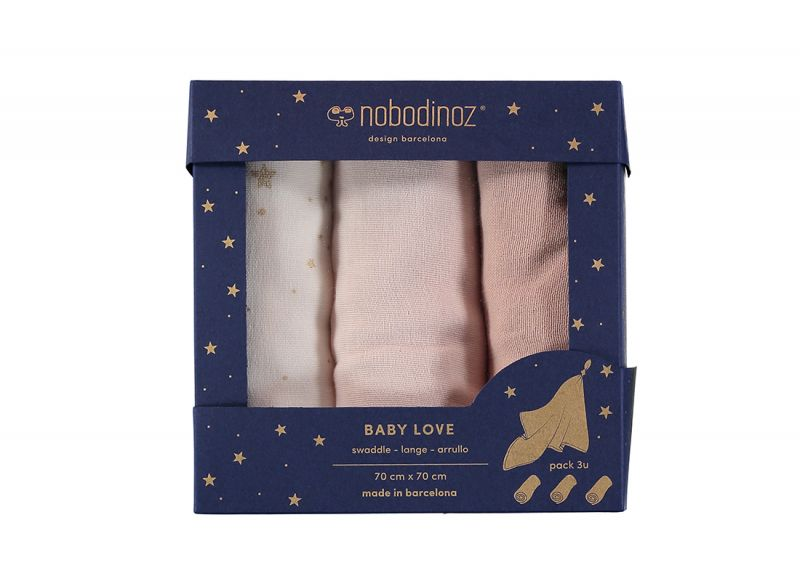 Baby Love Swaddle Box / Bloom Pink