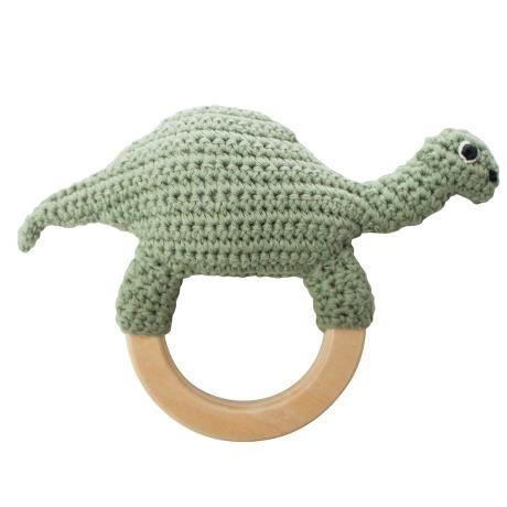 Crochet Rattle / Dino on ring