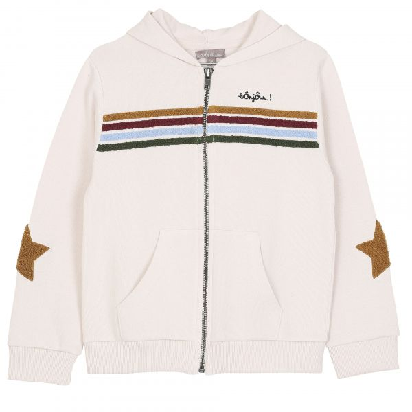 Sweatshirt Bonjour / Ecru