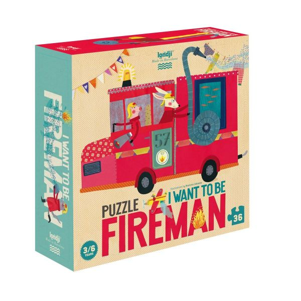 Puzzel - I want to be Fireman