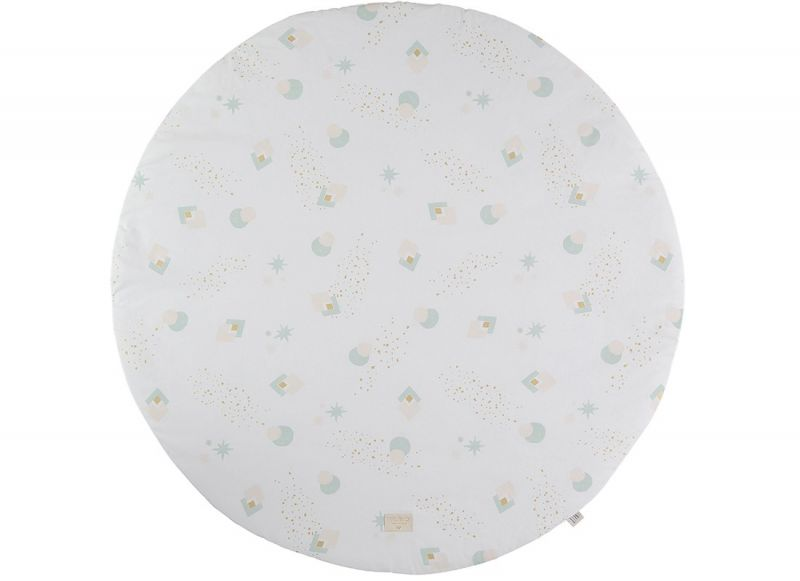 Fullmoon Large Round Playmat / Aqua Eclipse - White