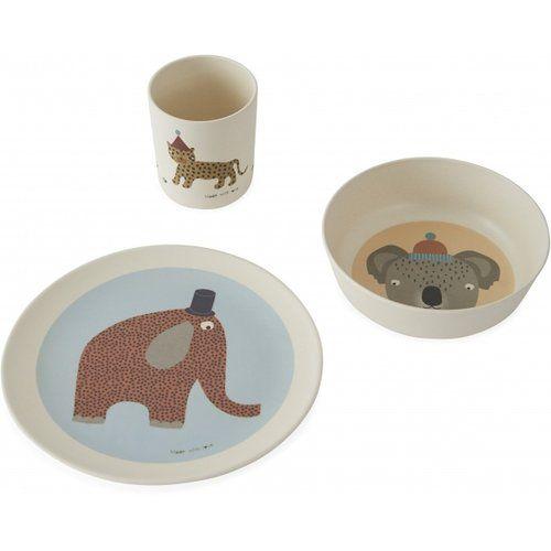 Hathi Bamboo Tableware Set / Off-white