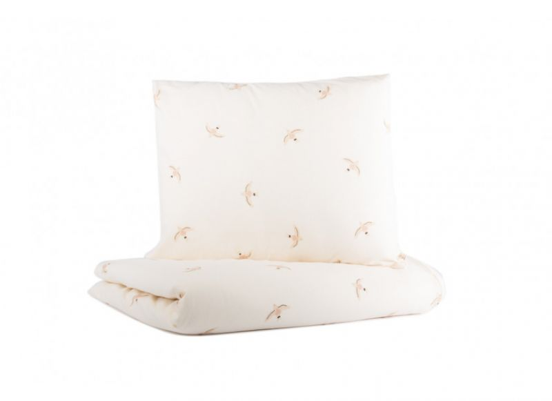 Himalaya Duvet Cover / Nude Haiku Birds natural