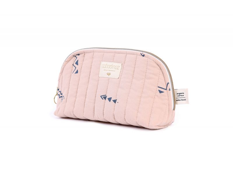 Holiday Vanity Case Small / Blue Secrets - Misty Pink