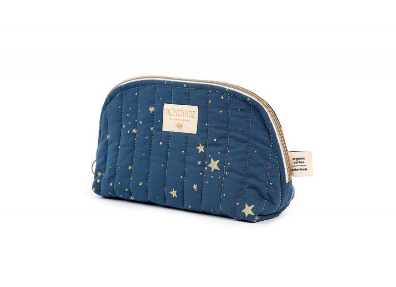 Holiday Vanity Case Small / Gold Stella - Night Blue