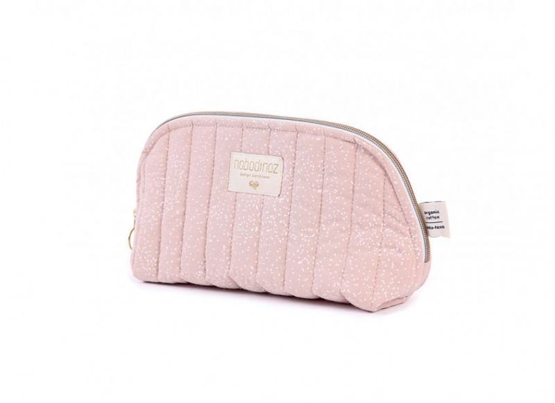 Holiday Vanity Case Large / White Bubble - Misty Pink