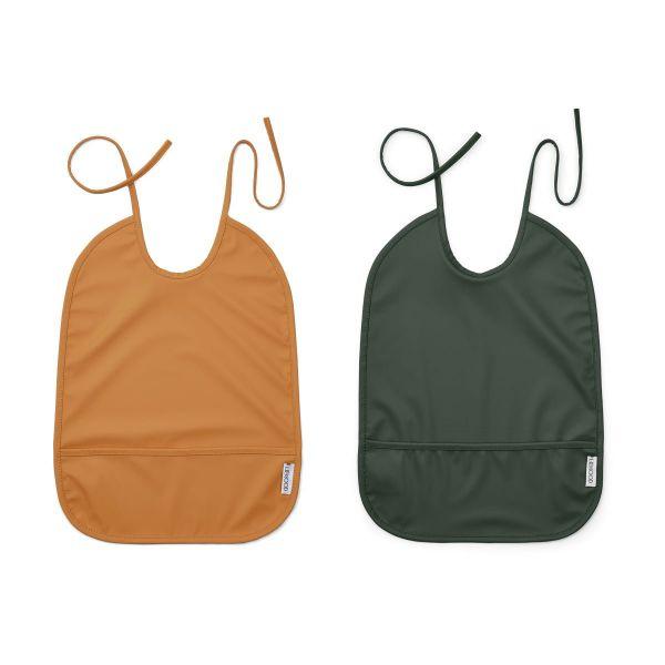 Lai Bib 2 Pack / Mustard Hunter Green