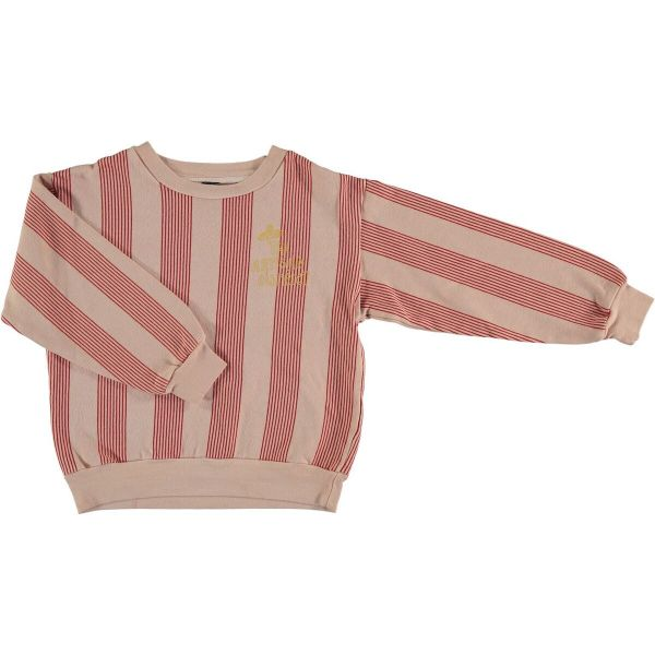 Sweatshirt Multi Stripes / Dusty Coral