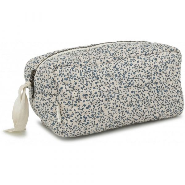 Quilted Toiletry Bag / Blue Blossom Mist