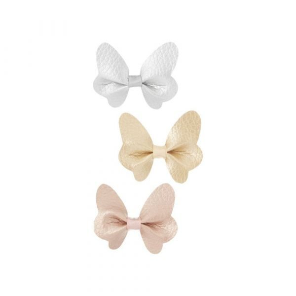 Metallic Butterfly Clips