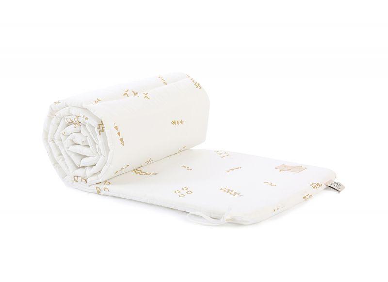 Nest Cot Bumper / Gold Secrets - White