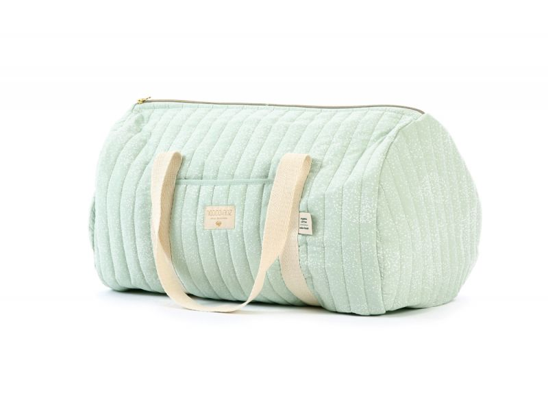 New York Weekend Bag / White Bubble - Aqua