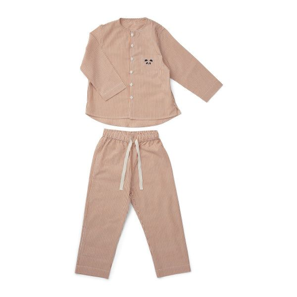 Olly Pyjamas Set / Stripes mustard and white