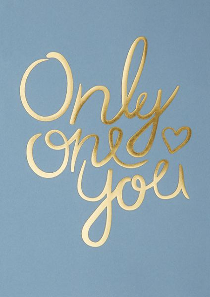 Poster / Only One You / New Blue / A4