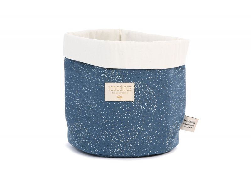 Panda Basket Medium / Gold Bubble - Night Blue