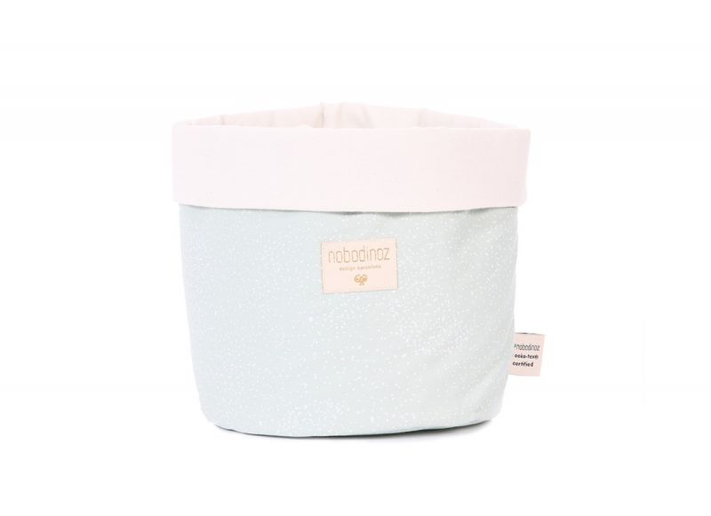 Panda Basket Medium / White Bubble - Aqua