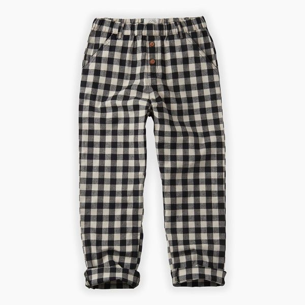 Pants Block Check / Black