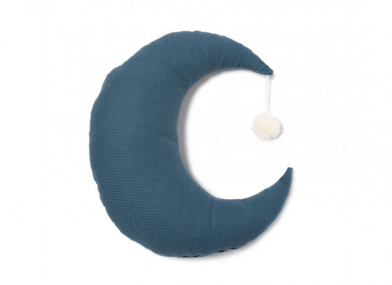 Pierrot Moon Cushion / Night Blue