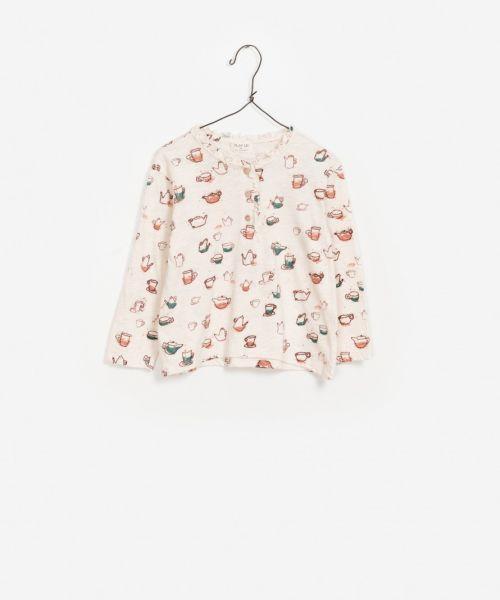 Printed Flamé Jersey T-Shirt / Theepot
