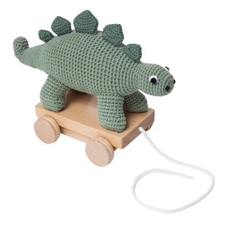 Crochet Pull-along Toy / Dino