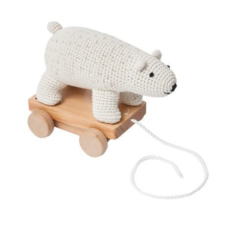 Crochet Pull-along Toy / Polarbear