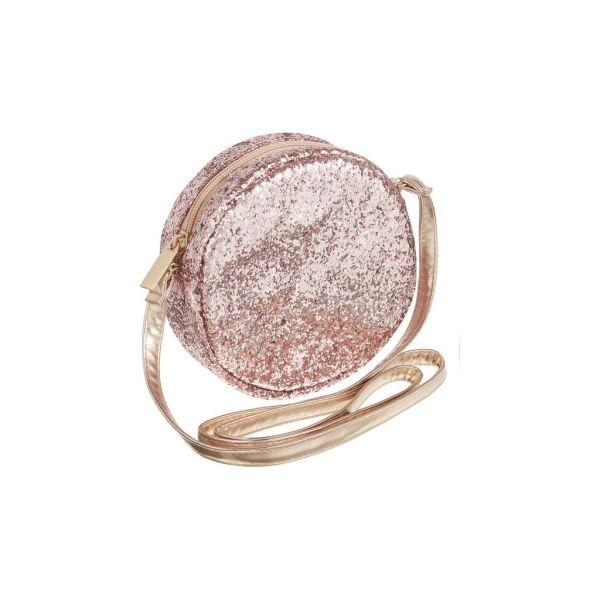 Round Glitter Bag Pink