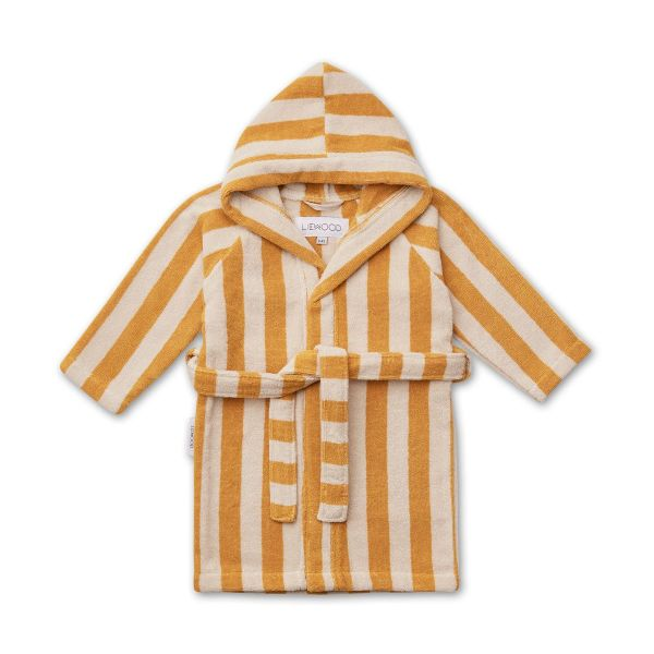 Reggie Bathrobe / Y/D Stripe Yellow Mellow/Sandy