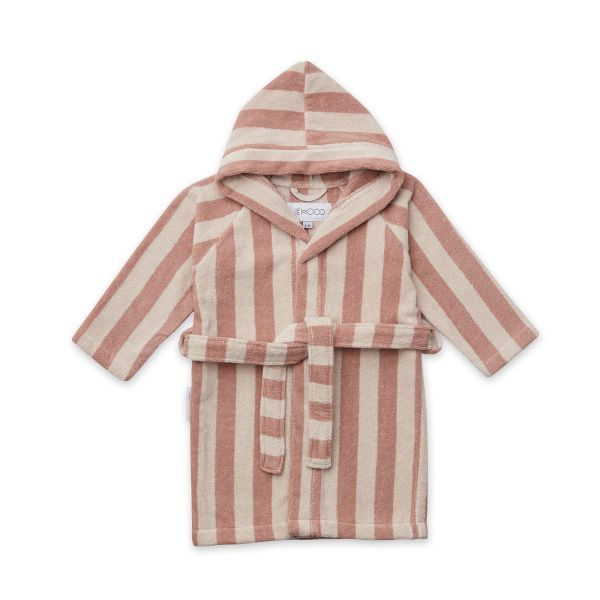 Reggie Bathrobe / Y/D Stripe Rose/Sandy