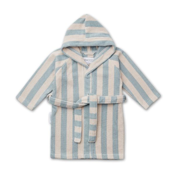 Reggie Bathrobe / Y/D Stripe Sea Blue/Sandy