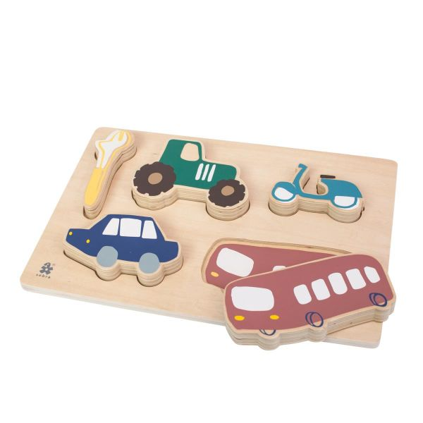 Wooden Chunky Puzzle / Little Driver